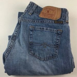 Lucky Brand Dungarees Flare Denim Blue Jeans 4